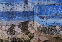 Pasos azules fotografía de archivo