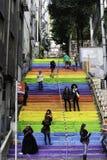 Pasos de Colorfull en Istambul Foto de archivo libre de regalías