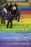 Pasos de Colorfull en Istambul Fotografía de archivo libre de regalías