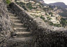 Pasos de la atalaya de Amalfi Fotos de archivo