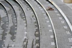 Pasos de la escalera con números Imagen de archivo libre de regalías