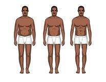 Pasos de la transformación del cuerpo Foto de archivo libre de regalías