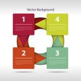 Pasos de papel del vector ilustración del vector