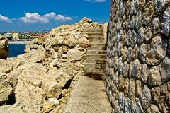 Pasos de piedra en Francia Fotografía de archivo