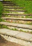 Pasos de piedra en la colina Imagen de archivo libre de regalías