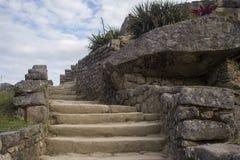 Pasos de piedra en Machu Picchu Fotografía de archivo