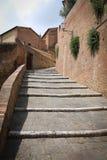 Pasos de piedra en tierra de Siena Imagenes de archivo