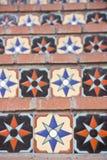 Pasos de progresión coloridos del azulejo Imágenes de archivo libres de regalías