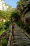 Pasos de progresión de la montaña Hua Fotografía de archivo