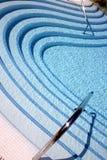 Pasos de progresión de la piscina que remolinan Fotografía de archivo libre de regalías