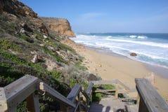 Pasos de progresión de la playa de Ethel Fotos de archivo libres de regalías