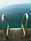 Pasos de progresión de la playa del mar (HDR) Foto de archivo libre de regalías