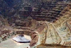 Pasos de progresión de la roca de la explotación minera imagen de archivo