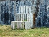 Pasos de progresión de madera Foto de archivo libre de regalías