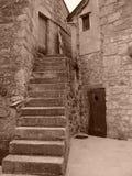 Pasos de progresión de piedra imagenes de archivo