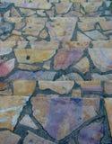 Pasos de progresión de piedra coloridos Foto de archivo