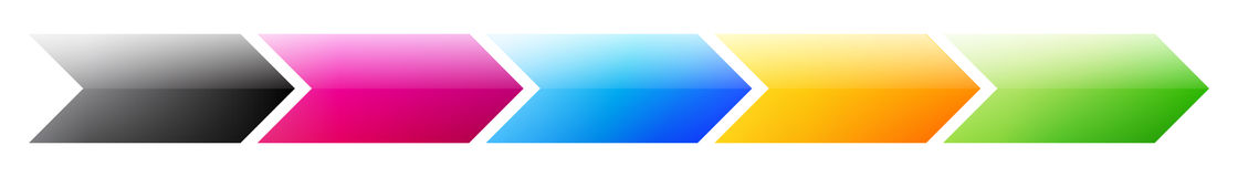Pasos de progresión de proceso del asunto del producto Imágenes de archivo libres de regalías