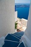 Pasos de progresión de Santorini Fotografía de archivo libre de regalías