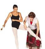 Pasos de progresión del ballet Foto de archivo libre de regalías