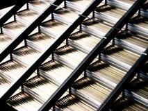 Pasos de progresión del metal foto de archivo libre de regalías