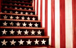 Pasos de progresión del patriota Foto de archivo