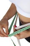 Pasos de progresión del peso perdidoso Foto de archivo