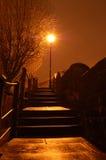 Pasos de progresión en la noche Foto de archivo