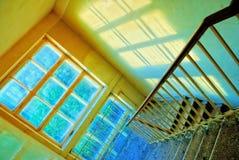 Pasos de progresión en la ventana Fotografía de archivo libre de regalías