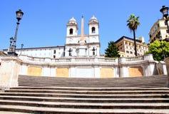 Pasos de progresión españoles en Roma Italia Foto de archivo libre de regalías