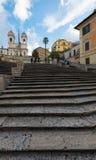 Pasos de progresión españoles, Roma Fotos de archivo libres de regalías