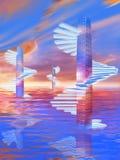 Pasos de progresión espirales Imagen de archivo libre de regalías