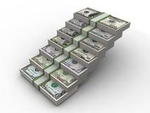 Pasos de progresión a hacer el dinero Fotografía de archivo libre de regalías