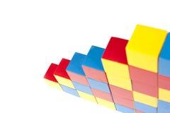Pasos de progresión de bloques del juego Foto de archivo libre de regalías