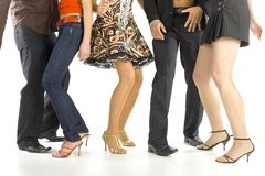 Pasos de progresión de danza Imagen de archivo libre de regalías