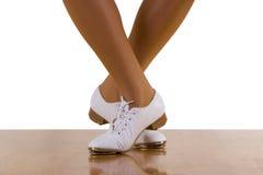 Pasos de progresión de danza de la Golpear ligeramente-Tapa Foto de archivo