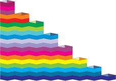 Pasos del arco iris imágenes de archivo libres de regalías