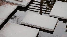 Pasos del jardín del agua almacen de metraje de vídeo