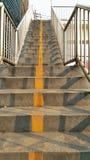 Pasos del paso superior, en luz del sol Imagen de archivo libre de regalías