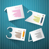 Pasos del progreso para el tutorial, Infographics Imagen de archivo