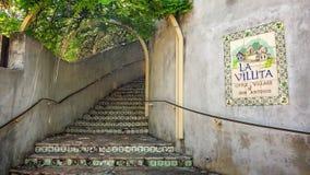 Pasos en el La Villita el pequeño pueblo de San Antonio Foto de archivo