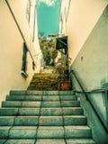 Pasos en el mediterráneo Fotografía de archivo libre de regalías