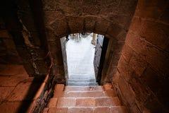 Pasos en el santo Michael Abbey Fotografía de archivo libre de regalías