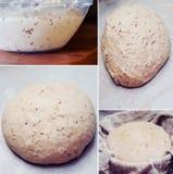 Fabricación de pan de pan amargo imagen de archivo libre de regalías