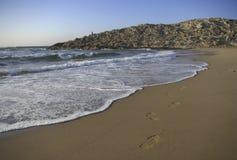 Pasos en la playa Royalty Free Stock Image