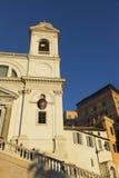 Pasos españoles en Roma en la puesta del sol Foto de archivo libre de regalías