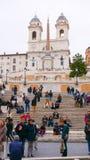 Pasos españoles famosos en Roma en el cuadrado de Spagna Imagen de archivo libre de regalías