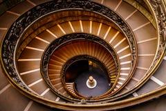 Pasos espirales en el Vaticano Imagen de archivo libre de regalías