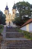Pasos a la abadía de Tihany en el lago Balatón, Hungría Fotos de archivo libres de regalías