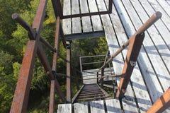Pasos oxidados Fotografía de archivo libre de regalías