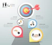 Pasos para apuntar las 5 opciones infographic, concepto del negocio infographic Foto de archivo libre de regalías